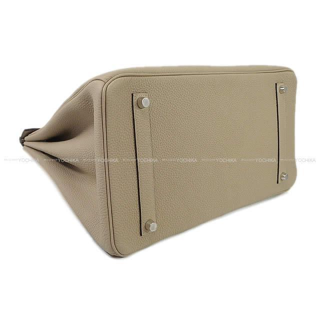 HERMES エルメス ハンドバッグ バーキン35 トゥルティールグレー トゴ シルバー金具 新品