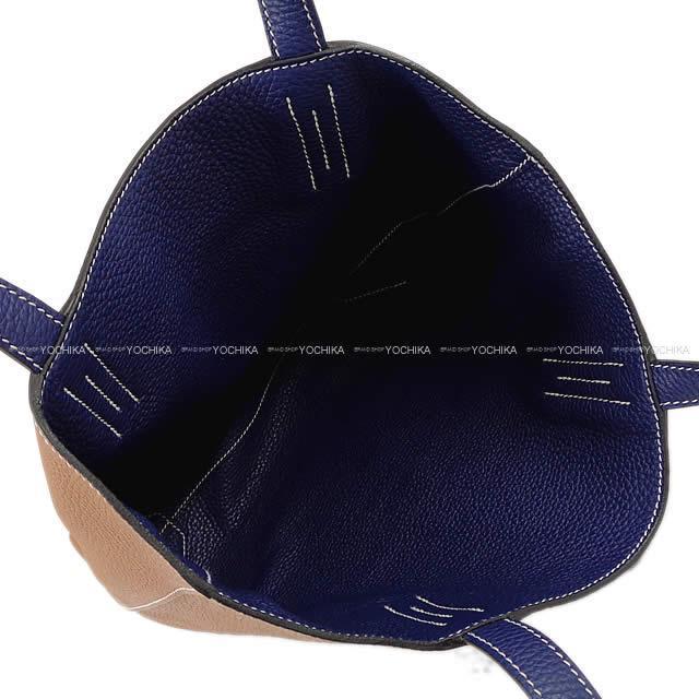 HERMES エルメス リバーシブル トートバッグ ドゥブル・サンス(ドゥブルセンス) 36 ブルーアンクル