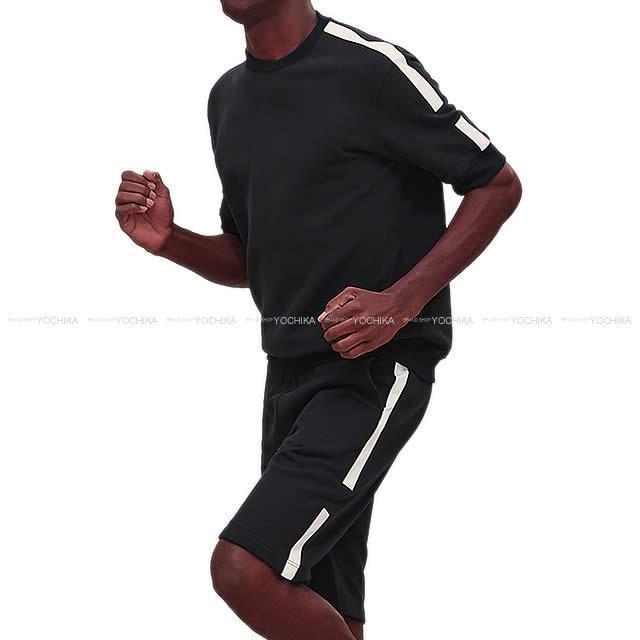 HERMES エルメス メンズ スウェット 半袖 ハーフパンツ 上下セット ジョギング Tシャツ