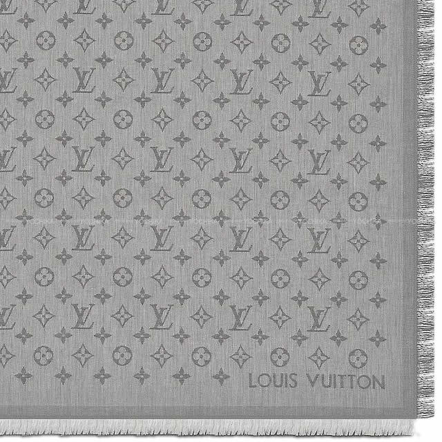 LOUIS VUITTON ルイ・ヴィトン ストール モノグラム エッセンシャル グレー コットン100% M71619 新品