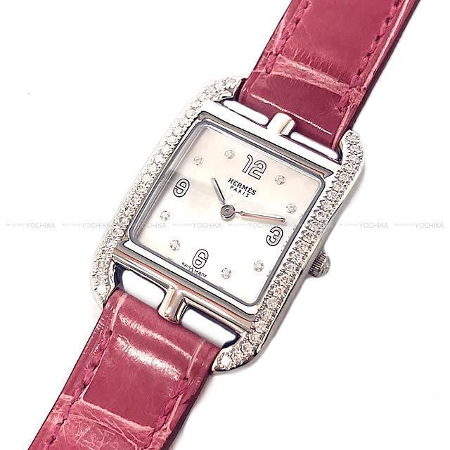 HERMES エルメス レディース 腕時計 ケープコッド PM CC1.232 ダイヤモンド フランボワーズ