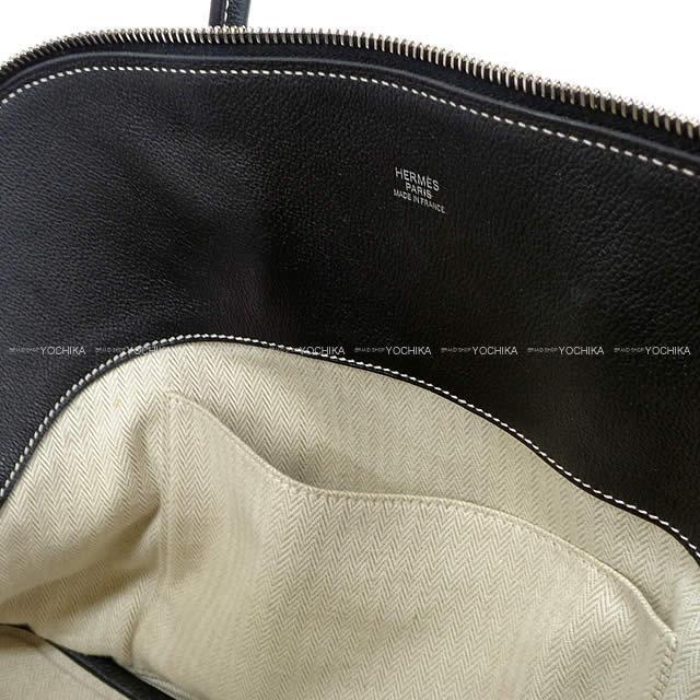 HERMES エルメス ハンドバッグ ボリードリラックス35 黒(ブラック) トリヨンノヴィーヨ シルバー金具 SAランク【中古】
