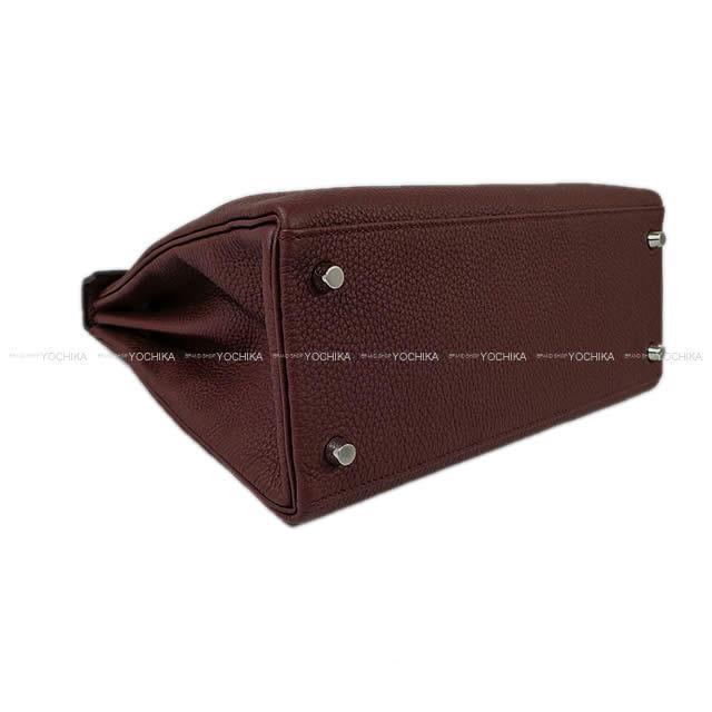 HERMES エルメス ハンドバッグ ケリー28 内縫い ボルドー トゴ シルバー金具 新品