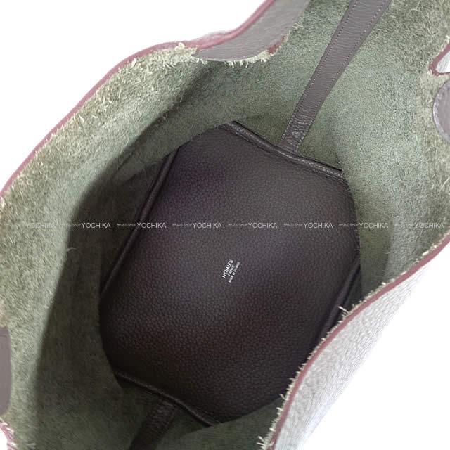HERMES エルメス ハンドバッグ ピコタンロック 22 MM エタン トリヨン シルバー金具 SAランク【中古】