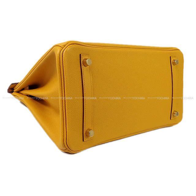 HERMES エルメス ハンドバッグ バーキン30 ジョーヌアンブル(アンバー) エプソン ゴールド金具 新品