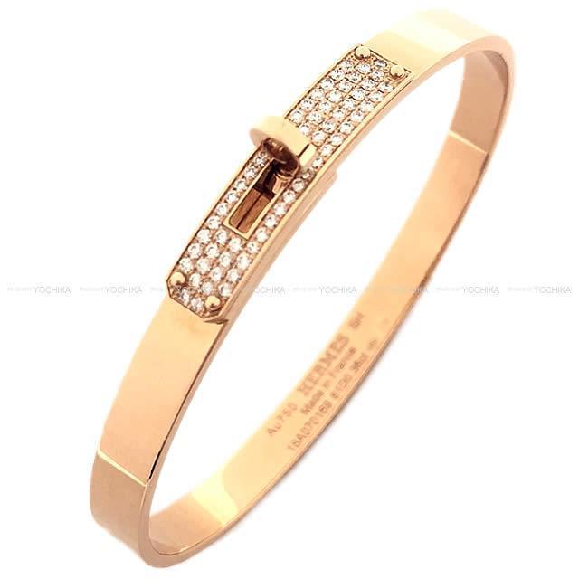 HERMES エルメス ブレスレット パヴェダイヤ 「ケリー」 #SH ローズゴールド AU750Xダイヤモンド 新品未使用