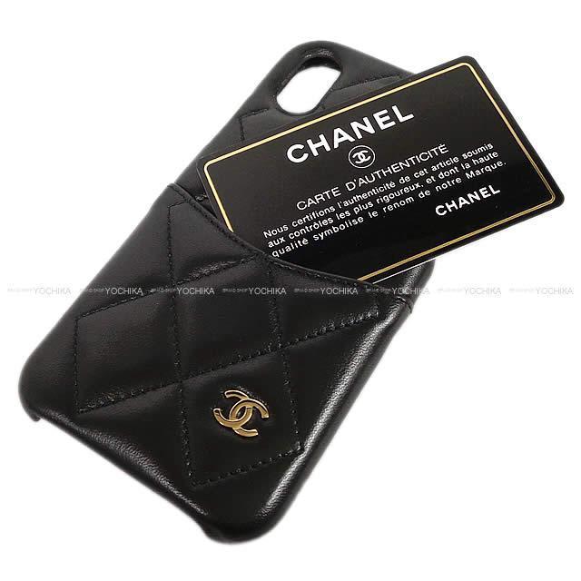 2019年 春夏 新作 CHANEL シャネル ココマーク マトラッセ iPhone7&8 ケース A83563 黒 新品