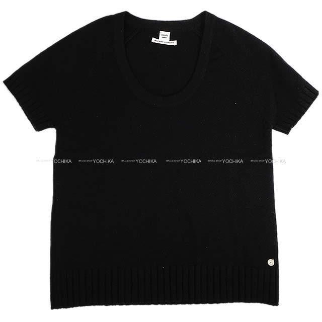 HERMES エルメス レディース 半袖 ニット #36 黒(ブラック) カシミヤ100% 新品