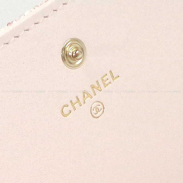 2019年 クルーズ 新作 CHANEL シャネル ドーヴィル フラップ 長財布 ラメベビーピンク A81976 新品未使用