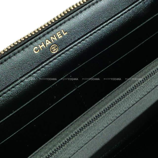 CHANEL シャネル オーロラシリーズ マトラッセ ラウンドファスナー長財布 メタリックグリーン AP0313 新品