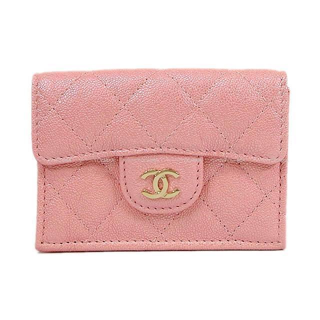 CHANEL シャネル マトラッセ オーロラシリーズ 三つ折 コンパクト 財布 ローズピンク A84401 新品