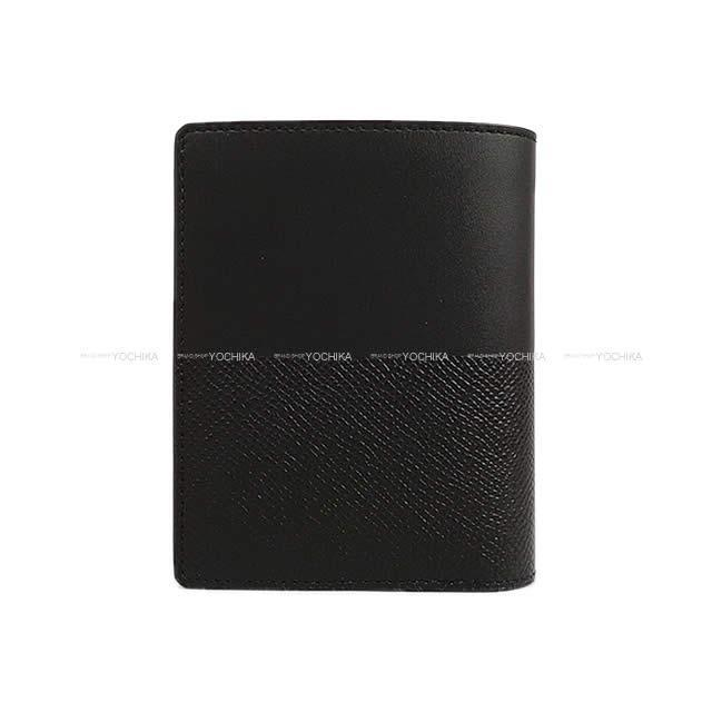 HERMES エルメス 財布 マンハッタン コンパクト 黒(ブラック) エプソン/ソンブレロ シルバー金具 新品未使用
