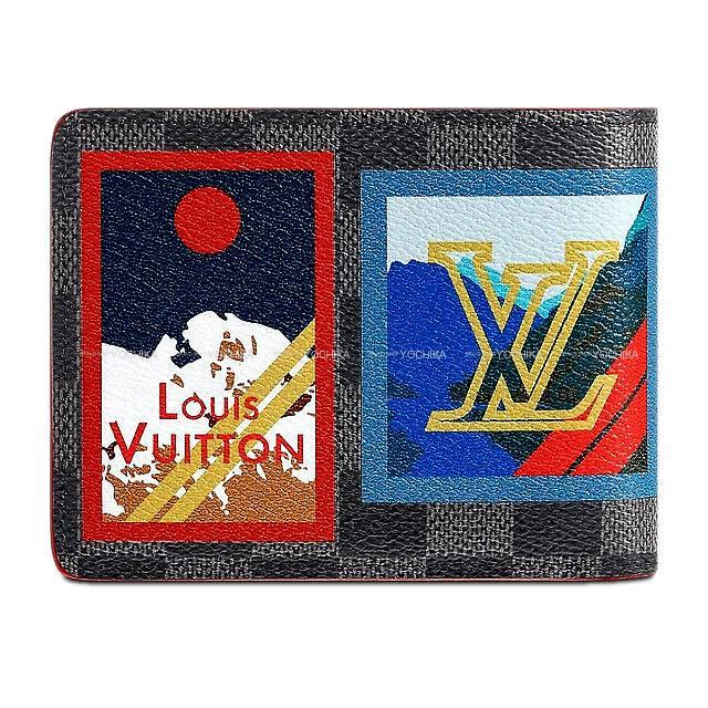 LOUIS VUITTON ルイ・ヴィトン 二つ折り財布 ポルトフォイユ ミュルティプル パッチワーク N60097 新品未使用