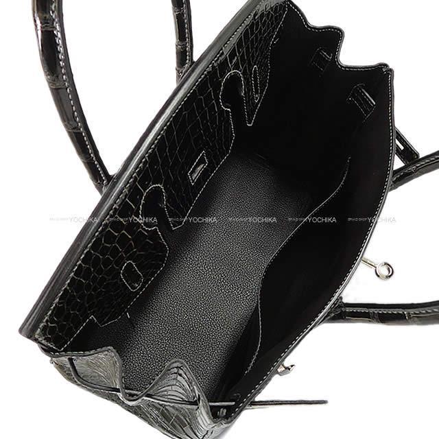 エルメス ハンドバッグ バーキン30 グラファイト クロコダイル ポロサスシャイニー シルバー金具 新品未使用