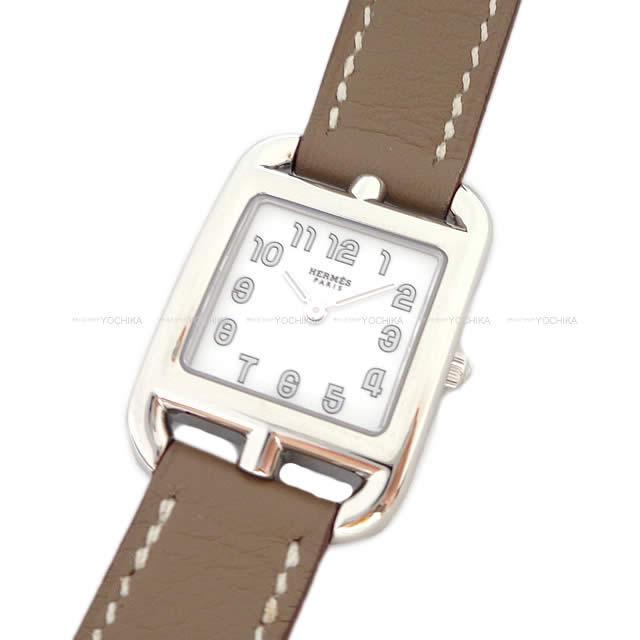 HERMES エルメス レディース 腕時計 ケープコッド PM エトープ スイフト シルバー金具 新品未使用