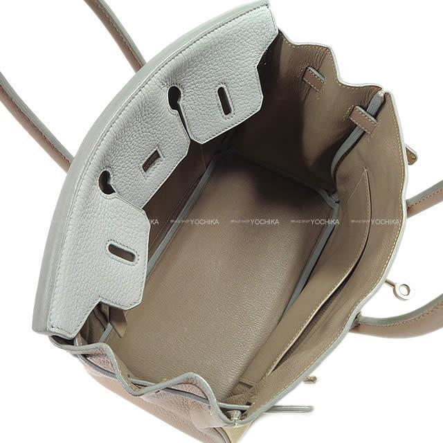 HERMES エルメス ハンドバッグ バーキン25 スペシャルオーダー パシュマン/ブルーペール トリヨン Aランク【中古】