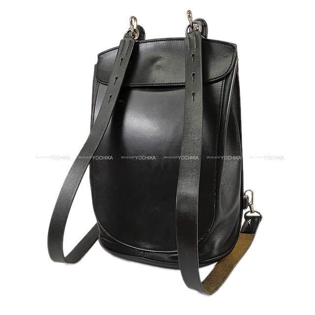 エルメス バックパック リュック サコッシュプールセル  黒 (ブラック) ボックスカーフXヴォーガリバー ABランク【中古】