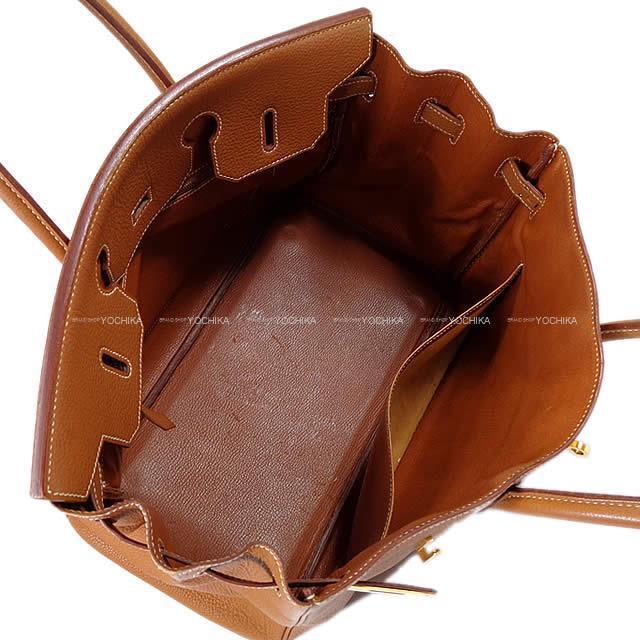 HERMES エルメス ハンドバッグ バーキン35 ゴールド トゴ ゴールド金具 ABランク【中古】