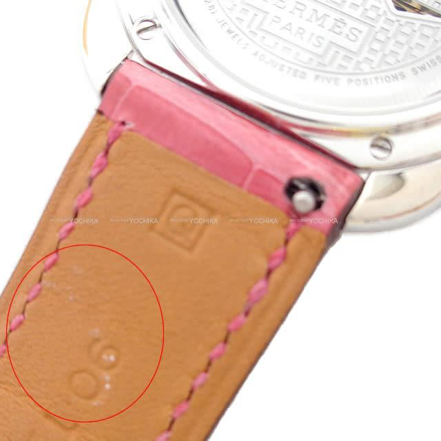 HERMES エルメス レディース 時計 アルソー PM AR6.A93 フューシャピンク  新品同様【中古】