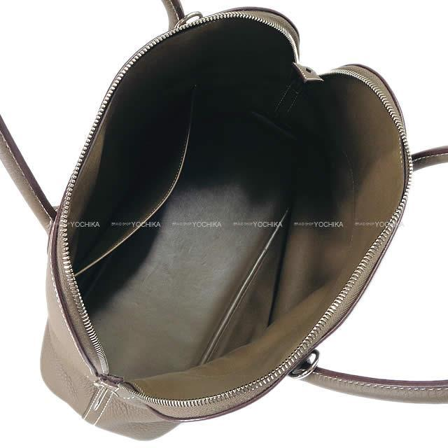 HERMES エルメス ハンドバッグ ボリード35 (37) エトープ トリヨン ゴールド金具 SAランク【中古】