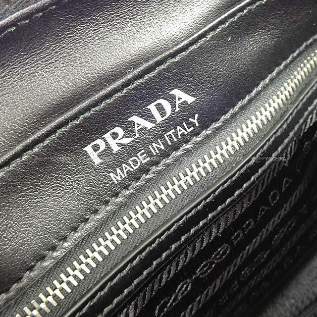 PRADA プラダ レーシング ロゴプリント レザー 斜め掛け ボディ ショルダーバッグ