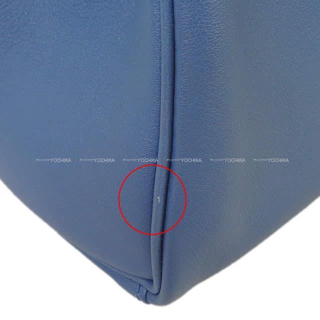 HERMES エルメス ハンドバッグ ケリー25 内縫い ブルーアガット スイフト シルバー金具 新品同様【中古】