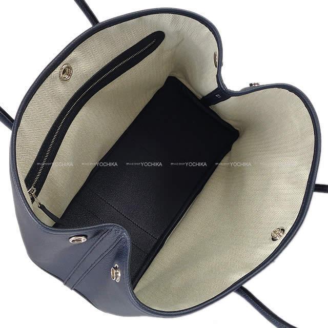 HERMES エルメス トートバッグ ガーデンパーティ 30 TPM ブルーインディゴ エプソン シルバー金具 新品