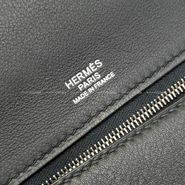 """HERMES エルメス ショルダーハンドバッグ """"サック 24/24 - 35 ヴァンキャトル"""" 黒(ブラック)"""