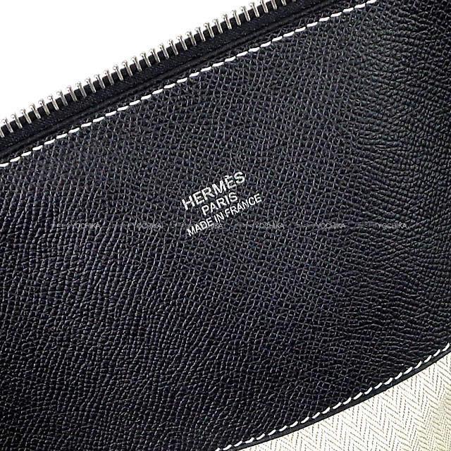 HERMES エルメス ハンドバッグ ボリードリラックス45 黒(ブラック) エプソンスープル シルバー金具 新品