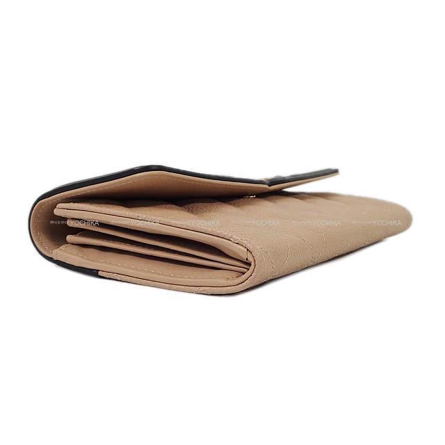 CHANEL シャネル フィリグリー マトラッセ フラップ 長財布 ベージュ/黒 グレインドカーフ A84448 新品