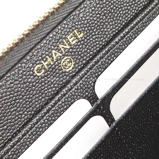 CHANEL シャネル マドモワゼル シェヴロン ラウンド 長財布 メタリックダークグレー グレインドカーフ A80969 新品