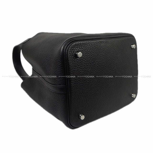HERMES エルメス ハンドバッグ ピコタンロック 22 MM 黒(ブラック) トリヨン シルバー金具 新品未使用