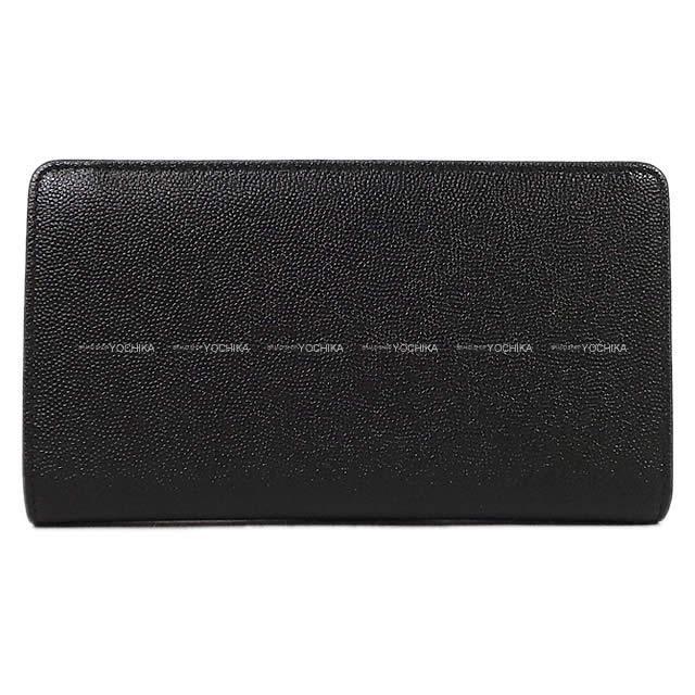 CHANEL シャネル ココボタン 二つ折 長財布 黒 グレインドカーフ A20904 新品