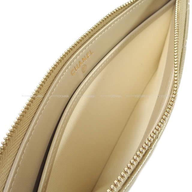 CHANEL シャネル マトラッセ カード スマホ ケース クラッチ ポーチ ゴールド A81462 新品