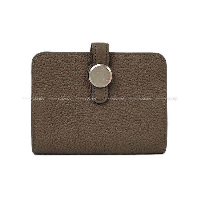 HERMES エルメス 財布 ドゴン カード コインケース トープ トゴ マットシルバー金具 新品未使用