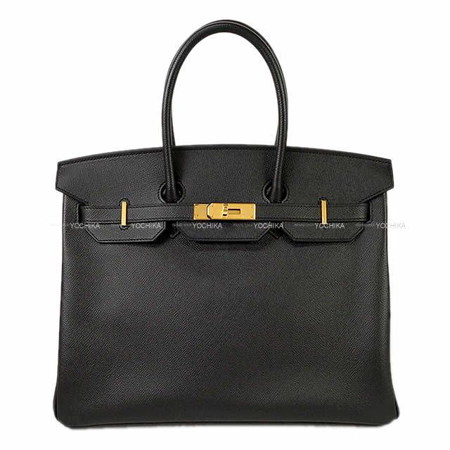 HERMES エルメス ハンドバッグ バーキン35 黒 (ブラック) エプソン ゴールド金具 新品