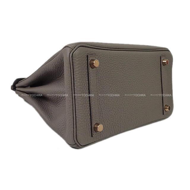 HERMES エルメス ハンドバッグ バーキン25 エタン トゴ ローズゴールド金具 新品