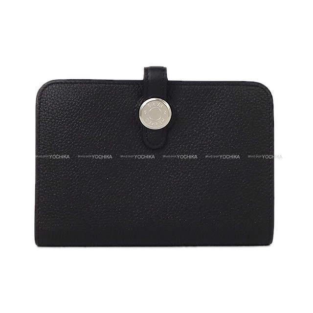 HERMES エルメス 財布 ドゴン カード コインケース 黒(ブラック)トゴ シルバー金具 新品