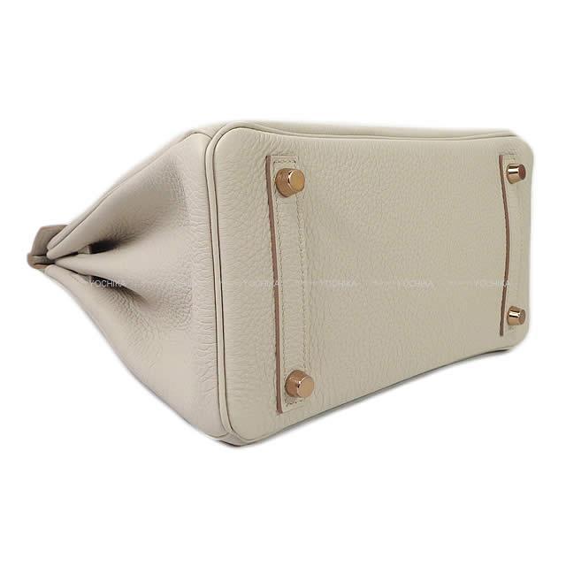 HERMES エルメス ハンドバッグ バーキン25 ベトン トゴ ローズゴールド金具 新品