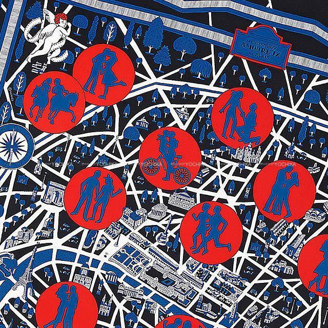 """2019年 春夏 新作 HERMES エルメス スカーフ カレ90 """"新・パリの恋人たち"""" 新品"""
