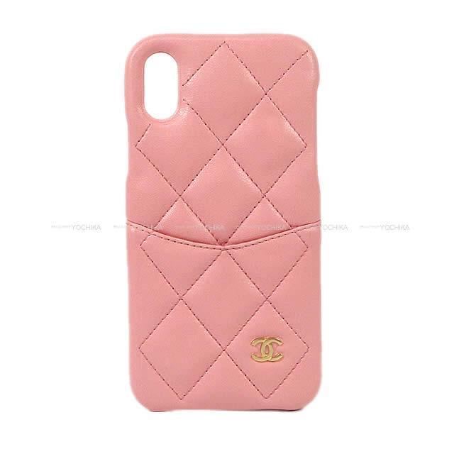 CHANEL シャネル ココマーク マトラッセ iPhone7&8 ケース カバー A83563 ピンク