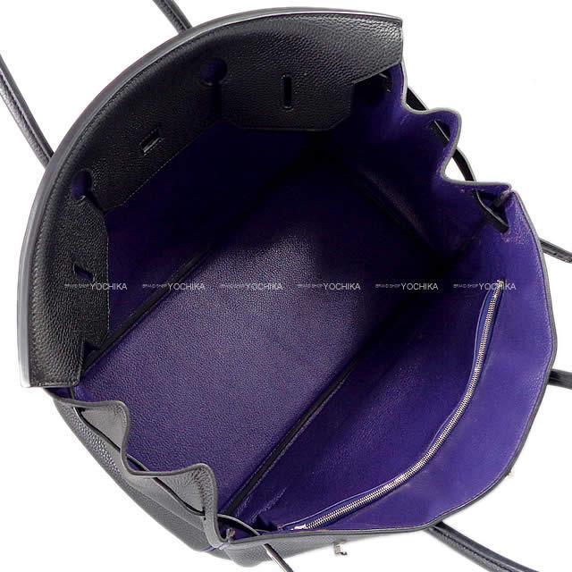 HERMES エルメス ハンドバッグ バーキン40 スペシャルオーダー 黒/ウルトラヴァイオレット  SAランク【中古】