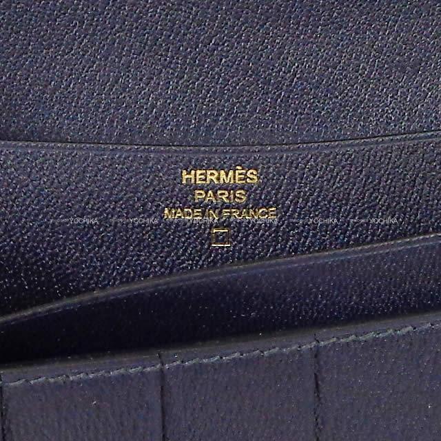 HERMES エルメス 長財布 ベアンスフレ ブルーマリン クロコダイル アリゲーター マット ローズゴールド金具 新品