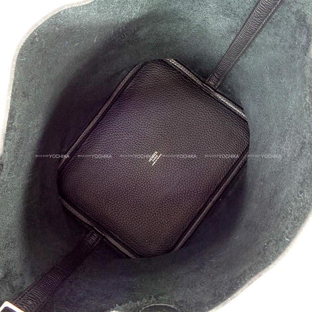 HERMES エルメス ハンドバッグ ピコタンロック 22 MM 黒(ブラック) トリヨン シルバー金具 新品同様【中古】