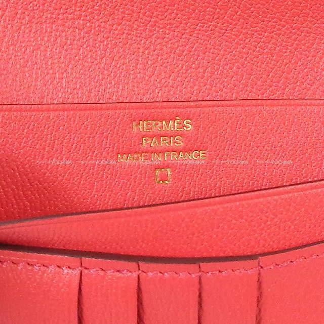 HERMES エルメス 財布 ベアンコンパクト ブーゲンビリア クロコダイル アリゲーターマット ゴールド金具 新品