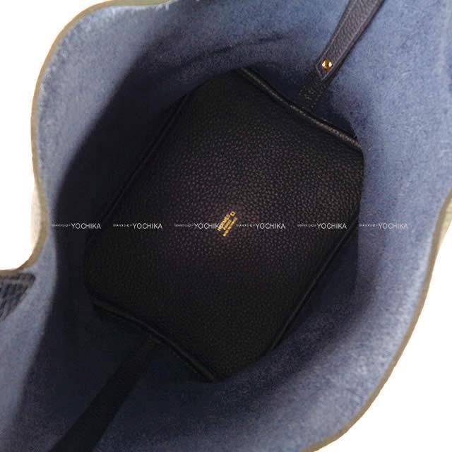 HERMES エルメス ハンドバッグ ピコタンロック タッチ 22 MM ブルーニュイ トリヨン/アリゲーターマット 新品