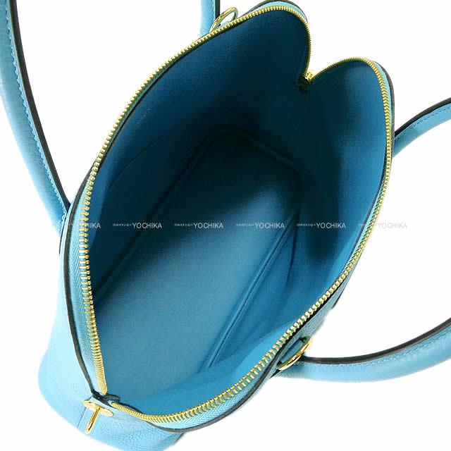 HERMES エルメス ハンドバッグ ボリード31 ブルーデュノール トリヨン ゴールド金具 新品