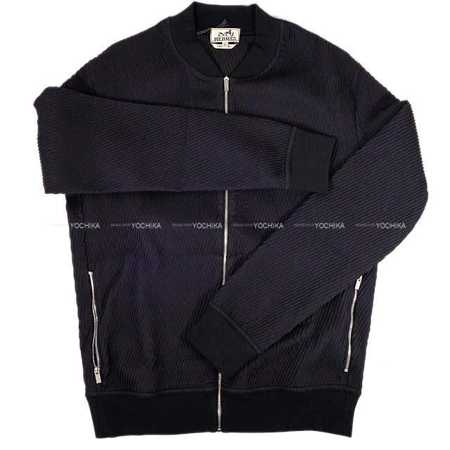 HERMES エルメス メンズ ジャケット ブルゾンジップ DIAGONALE 3D #S ブルン