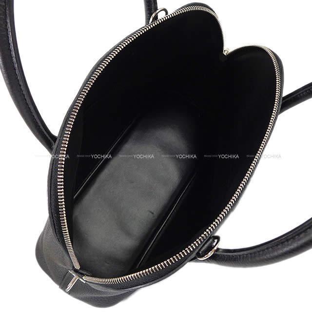 HERMES エルメス ハンドバッグ ボリード31 黒(ブラック) トリヨン シルバー金具 新品同様【中古】