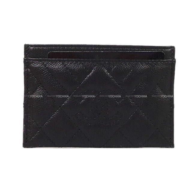CHANEL シャネル ダイヤモンド ココマーク マトラッセ シェヴロン カードケース ホルダー 黒(ブラック) 新品